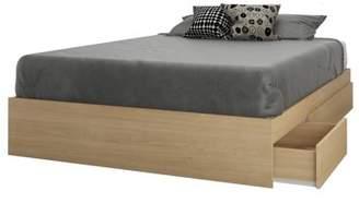 Alegria Nexera 3 Drawer Full Size Storage Bed, Natural Maple