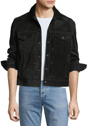 Rag & Bone Men's Suede Trucker Jacket