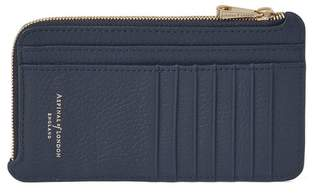 Aspinal of London Large Zipped Coin Purse In Bluemoon Pebble