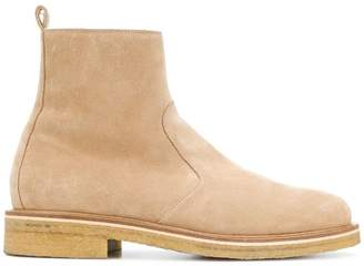 Ami Alexandre Mattiussi Zipped Boots With Crepe Sole