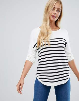 Jdy JDY Crush stripe 3/4 sleeve t-shirt