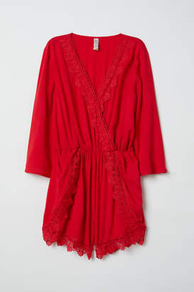 H&M Jumpsuit with Lace - Red