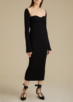 KHAITE The Beth Dress in Black