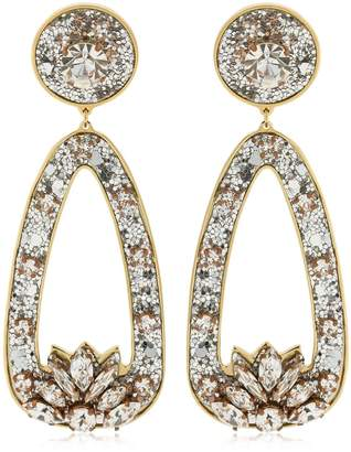 Shourouk Glitter Drop Clip-On Earrings