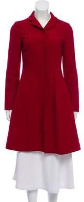 Miu Miu Virgin Wool Knee-Length Coat