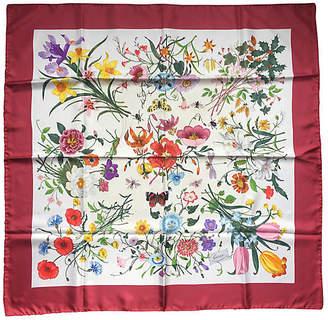 One Kings Lane Vintage Gucci Flora Print Accornero Silk Scarf - Antiques on Jackson