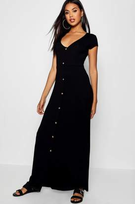 boohoo Button Through Split Maxi Dress