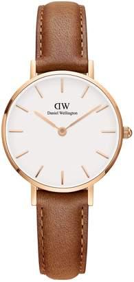 Daniel Wellington Classic Durham Goldtone Leather-Strap Watch