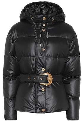 Versace Hooded down puffer coat