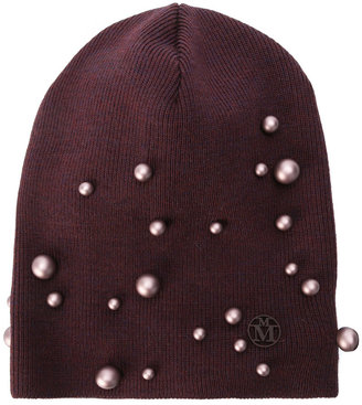 Maison Michel pearl embellished beanie