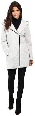 Jessica Simpson Asymmetrical Zip Sweater Softshell Women's Coat