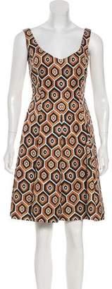 Prada Geometric Print Mini Dress
