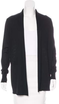 Neiman Marcus Striped Silk & Cashmere-Blend Cardigan