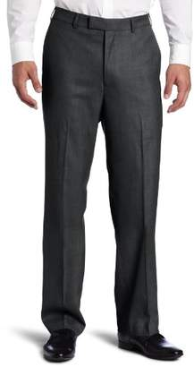 Savane Men's Flat Front Sharkskin Dress Pant