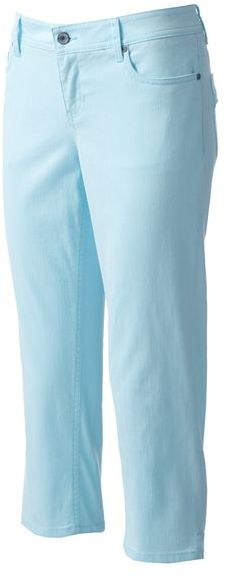 Sonoma life + style modern fit color denim capris