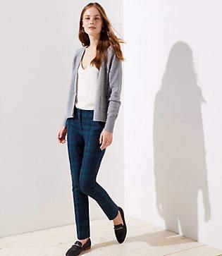 LOFT Plaid Skinny Ankle Pants in Marisa Fit