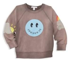 Burberry Little Girl's& Girl's Smiley Woven Pullover