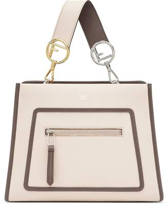 Fendi Small Runaway Calfskin Leather Satchel