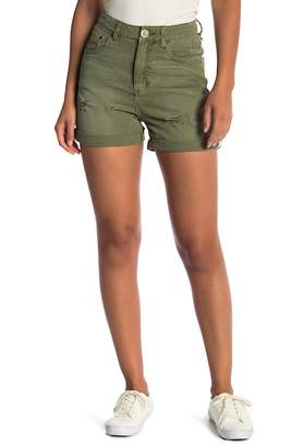One Teaspoon Militaire Distressed High Waisted Shorts