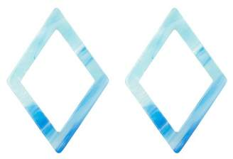 Free Press Lucite Diamond Shaped Drop Earrings
