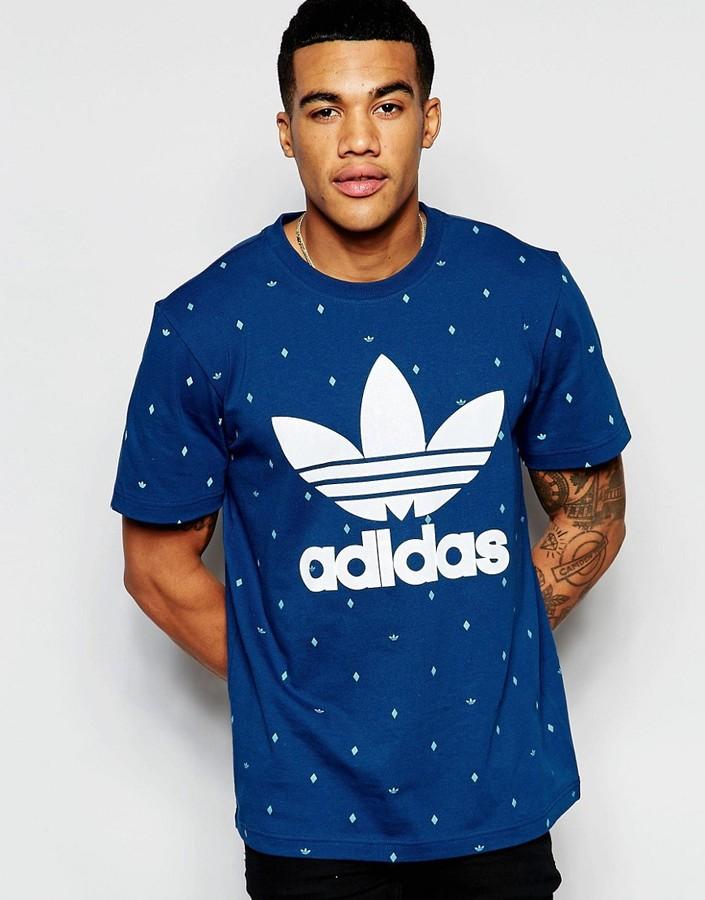 adidas Originals adidas Original T-Shirt In Trefoil Polka Dot AO0550