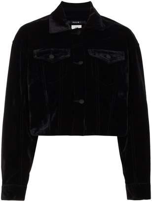Ksubi Black Velvet Daggerz Cropped Jacket