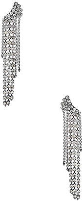 Rebecca Minkoff Gemma Winged Crystal Fringe Earrings