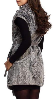 Gorski Reversible Goat Fur and Cashmere Wrap Vest