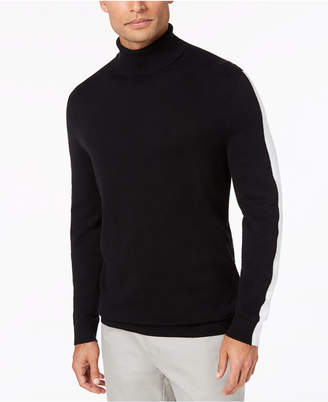 Alfani Men's Striped-Sleeve Turtleneck Sweater