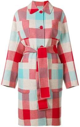 Bottega Veneta colour-block belted coat
