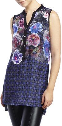 robert graham Hannah Floral Silk Tunic $298 thestylecure.com