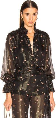 Jonathan Simkhai for FWRD Blouson Bodysuit in Star Print | FWRD
