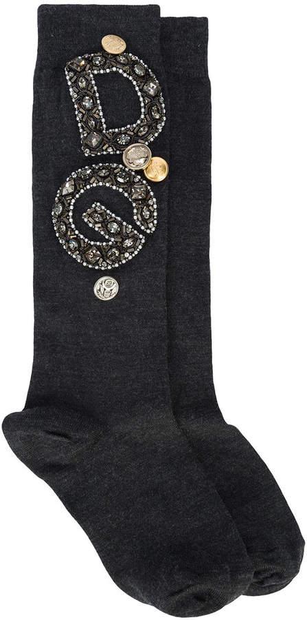 Dolce & Gabbana embroidered socks