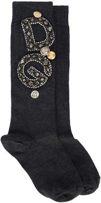 Dolce & Gabbana embroidered socks