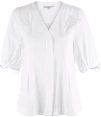 Oliver Bonas Glow Tie Cuff White Blouse