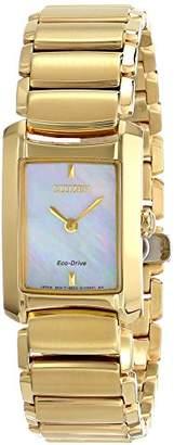 Citizen Eco-Drive Women's EG2972-58D Euphoria Analog Display Gold Watch