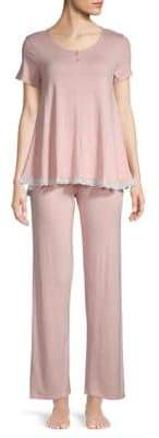 Juicy Couture Two-Piece Lace-Trimmed Top & Pants Set