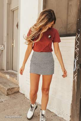 Cooperative Gingham Side-Pocket Mini Skirt