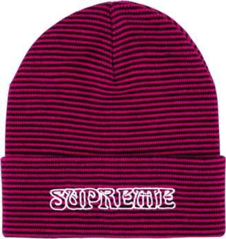 4dce43df9a3 ... best price at stadium goods supreme small stripe beanie fw 18 pink  6832b c24c8