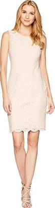 Calvin Klein Women's Lazer Sheath Scuba Dress