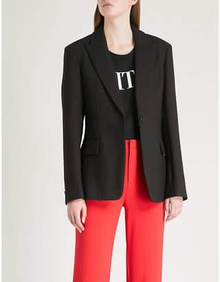 Mo&Co. Corset-tie twill blazer