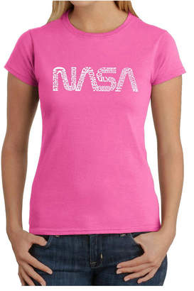 Women Word Art T-Shirt - Worm Nasa