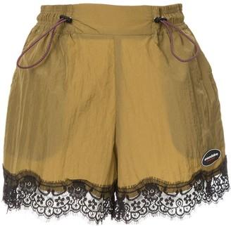 Ground Zero lace hem shorts