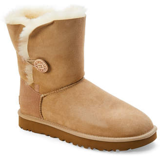 UGG Sand Bailey Button II Real Fur Boots