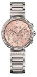 Hugo Boss 1502403 Chronograph Stainless Steel Crystal Accent Watch One Size Assorted-Pre-Pack $335 thestylecure.com