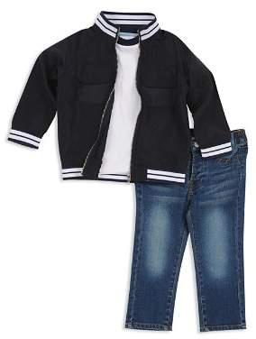 7 For All Mankind Boys' Varsity Zip Jacket, Tee & Jeans Set - Little Kid