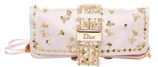 Christian Dior Satin Embellished Crossbody Bag