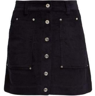 Proenza Schouler Pswl - Corduroy Mini Skirt - Womens - Navy