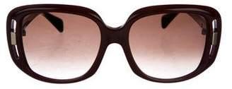 Alexander McQueen Gradient Square Sunglasses