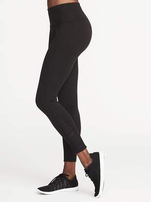 Old Navy High-Rise 7/8-Length Gathered-Mesh Compression Leggings for Women